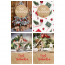 wholesale Greeting cards: Christmas cards, 115x170mm, 4x10 pieces assorted